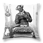 Black Preacher, 1890 Throw Pillow