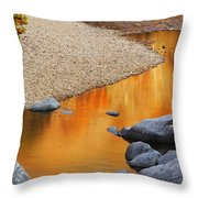 Black River Reflections At Johnsons Shut Ins State Park I Throw Pillow
