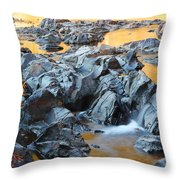 Black River Reflections At Johnsons Shut Ins State Park Vi Throw Pillow