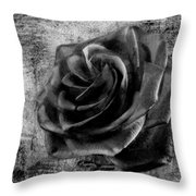 Black Rose Eternal  Bw Throw Pillow
