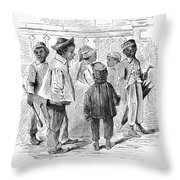 Black School Children Throw Pillow