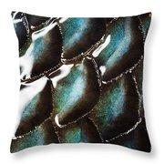 Black Sea Bass Scales Throw Pillow