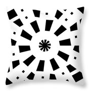 Black Spirale Throw Pillow