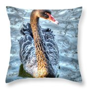 Black Swan Event Throw Pillow