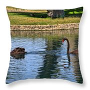 Black Swan's In Palm Springs Throw Pillow