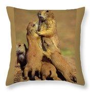 Black-tailed Prairie Dogs Throw Pillow