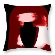Black Urn Throw Pillow