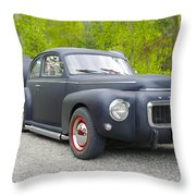 Black Volvo Throw Pillow