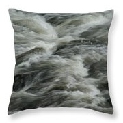 Black Water Throw Pillow
