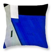 Black White And Blue Throw Pillow