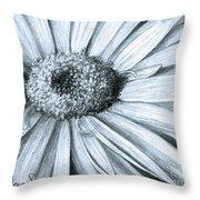 Black White Gerber Throw Pillow