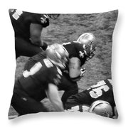 Blackandgoldnblackandwhite Throw Pillow