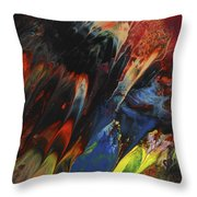 Blackbird Rainbow Blitz Throw Pillow