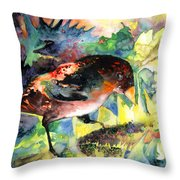Blackbird With Sunflower Throw Pillow