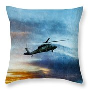 Blackhawk Helicopter Throw Pillow