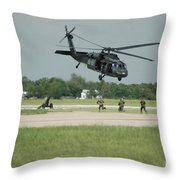 Blackhawk Pulling Pitch Throw Pillow