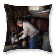 Blacksmith - Tinkering With Metal  Throw Pillow