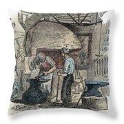 Blacksmith, C1865 Throw Pillow