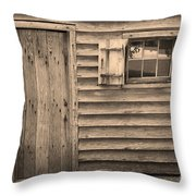 Blacksmith Shop Throw Pillow by Suzanne Gaff