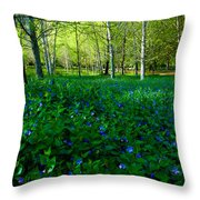 Blanket Of Flowers Throw Pillow