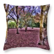 Blanket Of Leaves Throw Pillow