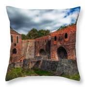 Blast Furnaces Throw Pillow