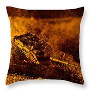 Blast On The Desert Throw Pillow