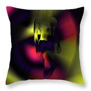 Blasted Rainbow  Throw Pillow