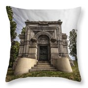 Blatz Family Mausoleum Throw Pillow