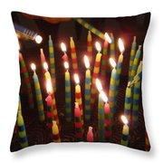 Blazing Amazing Birthday Candles Throw Pillow
