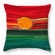 Blazing Red Sky Throw Pillow