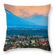 Bled City And Breg. Slovenia Throw Pillow