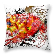 Bleeding Petals  Throw Pillow