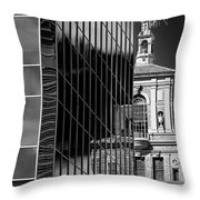 Blending Architecture Black And White Throw Pillow