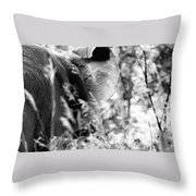 Blending Into Camouflage Throw Pillow