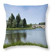 Blenheim Palace's Lake Throw Pillow
