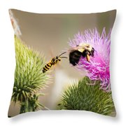 Blind Side Attack Throw Pillow