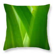 Blinding Green Throw Pillow