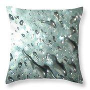 Blinding Rain Throw Pillow