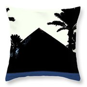 Blk And Wt Pyramid3 Throw Pillow