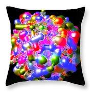 Blob Of Color... Throw Pillow