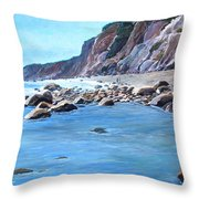 Block Island Surf Throw Pillow