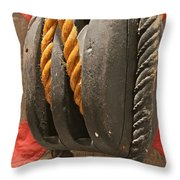 Block Throw Pillow by Rick  Monyahan