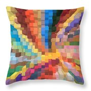 Blocks Of Color From A Pen And Ink Drawing Throw Pillow