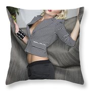 Blonde Movement Throw Pillow