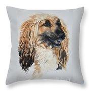 Blonde Throw Pillow by Susan Herber