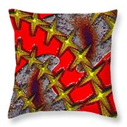 Blood On The Wire Throw Pillow