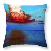 Blood Red Clouds Throw Pillow