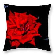 Blood Rose Throw Pillow