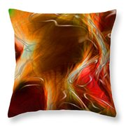 Blood Work Triptych Panel 3 Throw Pillow